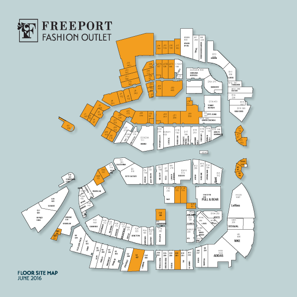 mapa freeport Freeport Fashion Outlet   VIA Outlets mapa freeport