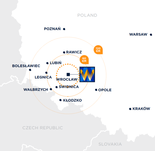 Map Wroclaw Fashion Outlet